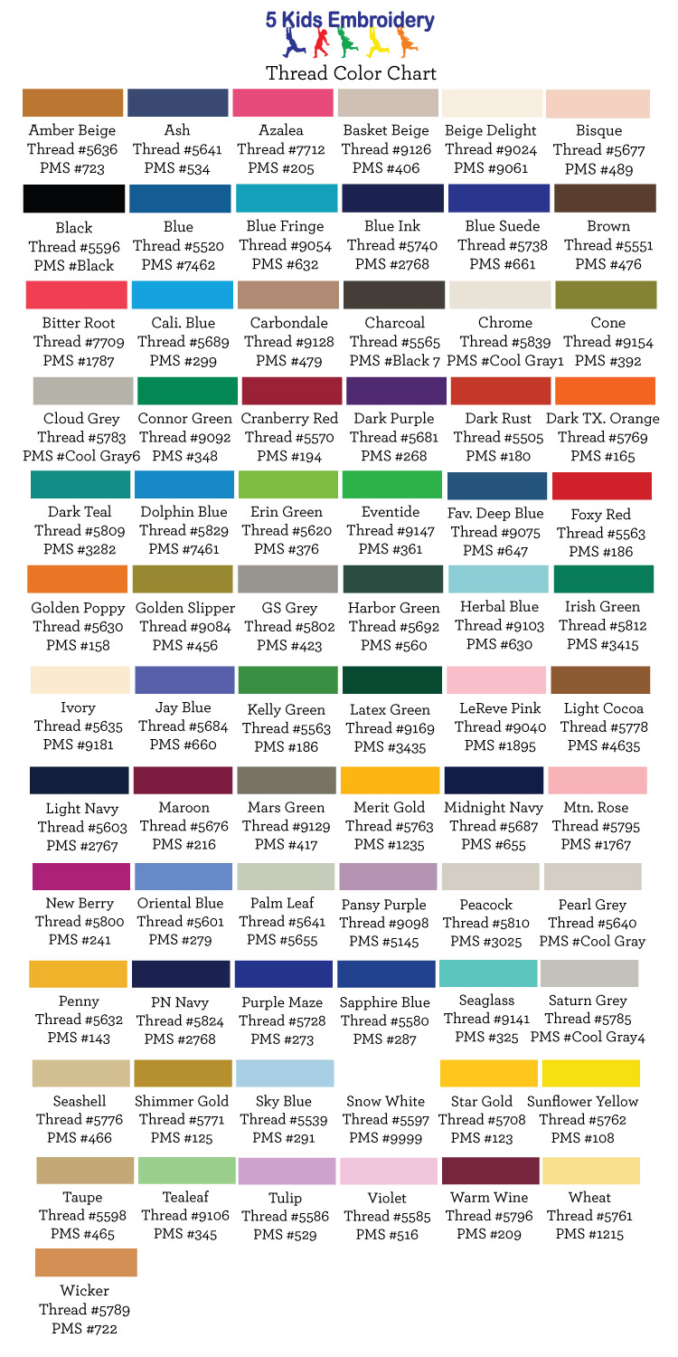 Madeira Thread Color Chart Pms Best Picture Of Chart Anyimage